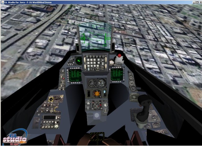 click for F16 simulator applet